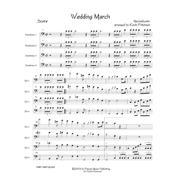 The Wedding March Song: Pelican Music Publishing
