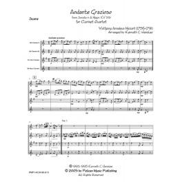 Andante Grazioso KV 331 for Clarinet Quartet