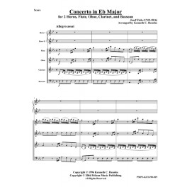 Concerto in Eb Major for 2 Horns