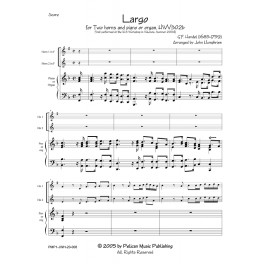 Largo for Two horns and piano or organ