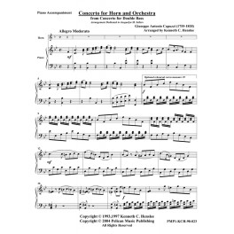 """Concerto for Horn & Orchestra from """"Concerto for Double Bass"""""""